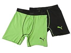 Black / Green Tech Boxer Brief - 2pk