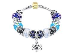 Royal Blue Snowflake Bracelet