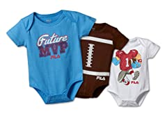 """Future MVP"" Bodysuit 3-Pack  (3-6M)"