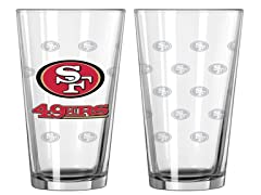 49ers Pint Glass 2-Pack
