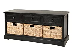 Damien 3 Drawer Storage - Black