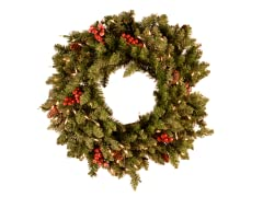 "Wreath 30"" Prelit Clear Lights"