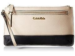 Calvin Klein Womens Saffiano Wristlet