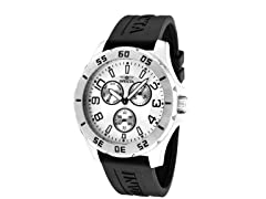 Men's Black/Silver Multi-Function Watch