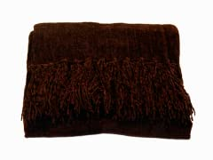 Susan Chenille Throw - Chocolate