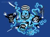 The Ninja Pandas vs The Diabolical Pirate Octopus