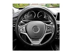 Snake Pattern Black Steering Wheel Cover