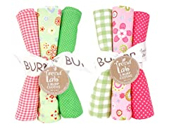 6-Piece Burp Cloth Set- Sherbet
