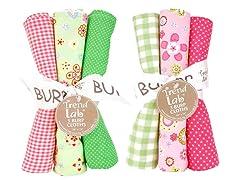 6-Piece Burp Cloth Set- Sherbet