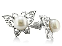 Butterfly Freshwater Pearl Earrings