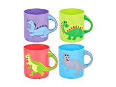 Dinosaurs Mugs Assorted Colors and Designs, 12 ct