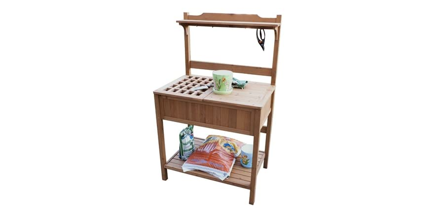 Recessed Storage Potting Bench