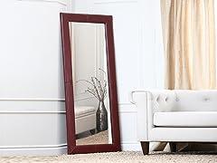 Leather Floor Mirror (2-Colors)