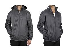 Men's Fleece-Lined Hooded Windbreaker