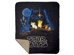 Star Cats Sherpa Blanket