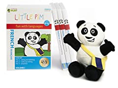 French for Kids: Language Box Set Volume I w/Panda Plush