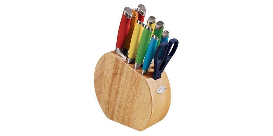 Fiesta 11 Piece Multi Color Cutlery Block Set