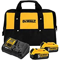 Deals on DEWALT XR 20-V Max 2-Pack 5 Amp-Hour Tool Battery Kit