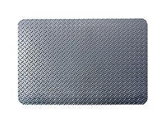 3' Indoor Diamond Mat, Solid Gray