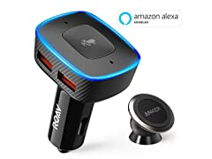 Anker Roav VIVA w/ Car Mount Alexa-Enabled Car Charger