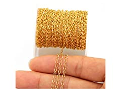 33FT Gold Plated Jewelry Chain