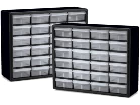 Akro-Mils 24-Drawer Storage Cabinets (2-Pack)