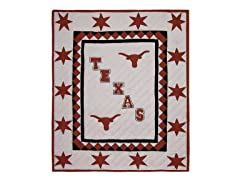 University of Texas Quilted Throw