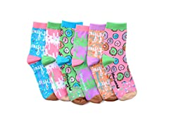 LittleMiss Matched Smelly Sock Donut 6pk