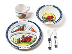 5-Piece Melamine Set - Tractor Mac