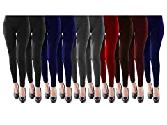 10 Pack Plus Size High Waist Leggings