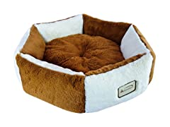 Cat Pet Bed - Brown & Ivory