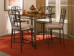 Jefferson 5-pc Counter Height Dining Set