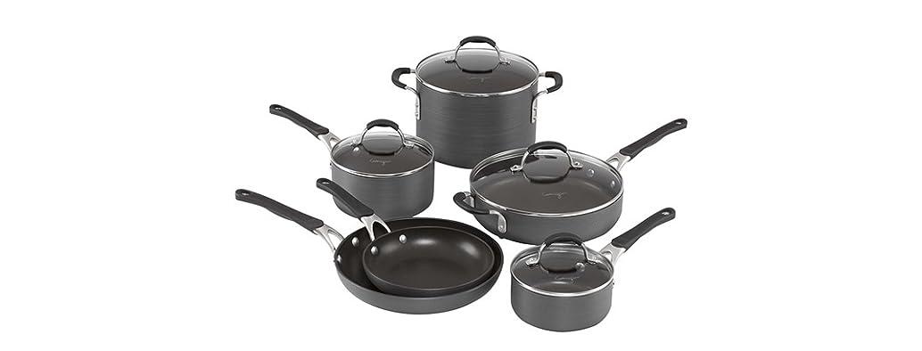 Calphalon Hard-Anodized Cookware 10Pc Set