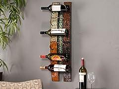 Adriano 6-Bottle Wall Mount Wine Storage