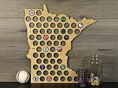 Beer Cap Map: Minnesota