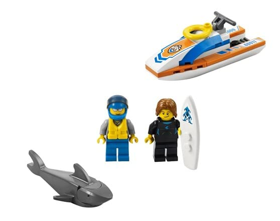 Lego Shark Toys For Boys : Lego city surfer rescue toy building set