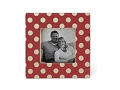 Small Polka Dot Ceramic Picture Frame