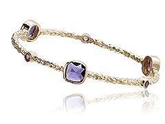 Riccova 14K Gold Plated Bangle, Purple