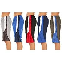 woot.com deals on 5-Pack Men's Active Athletic Mesh Performance Shorts
