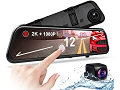 Rexing M1 Pro 2K Dual Mirror Dash Cam