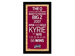 "Cleveland Cavaliers 9.5"" x 19"" Sign"