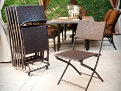 Perfect Woven Folding Chair Set - 6 Pack