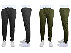 Mens Cotton Stretch Twill Joggers 2-Pack