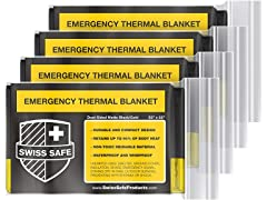 Black Emergency Mylar Blanket (4-pack)