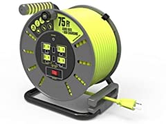 MasterPlug Extension Cord Reels with USB