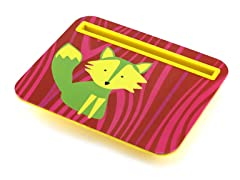 Tablet Cushion - Red With Green/Yellow Fox