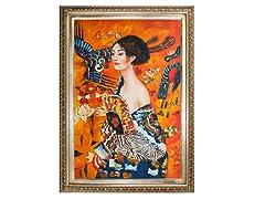 Klimt - Signora con Ventaglio Interpretation