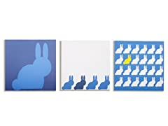 Sky Bunnies Canvas Print (Set of 3)