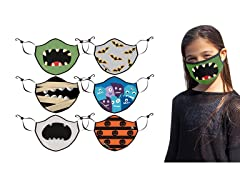Kid's Reusable Knitted Mask (3 or 6-Pack)