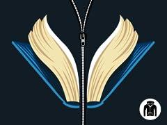Open a book, open your wings Zip Hoodie